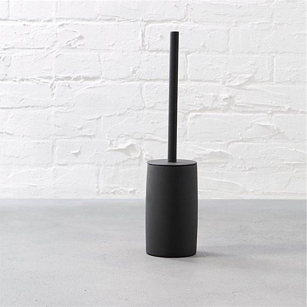 rubber coated black toilet brush