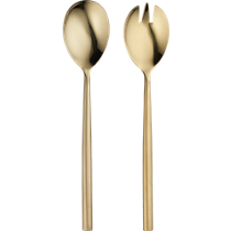 rush gold serving spoons