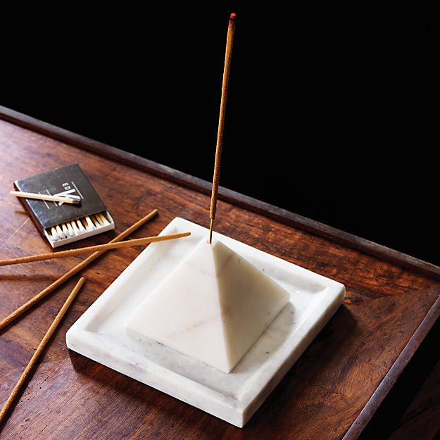 SAIC pyramid incense burner with tray