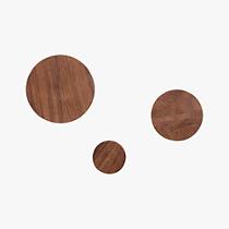 set of 3 dot coat hooks