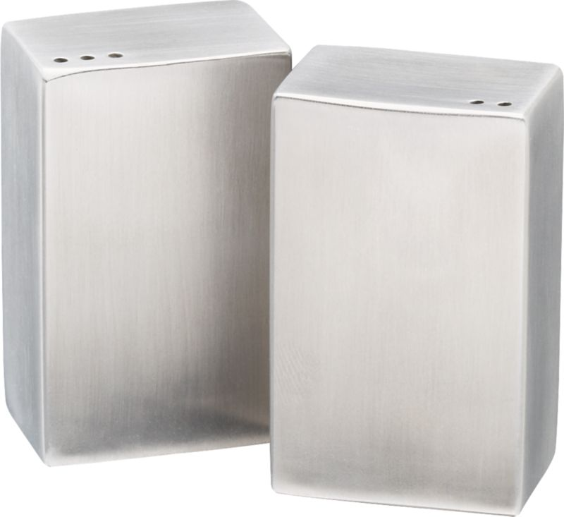 2-piece stainless steel salt and pepper shaker set