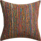 "sari 20"" pillow with feather insert."