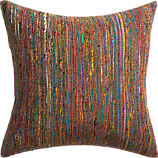"sari 20"" pillow with down-alternative insert"