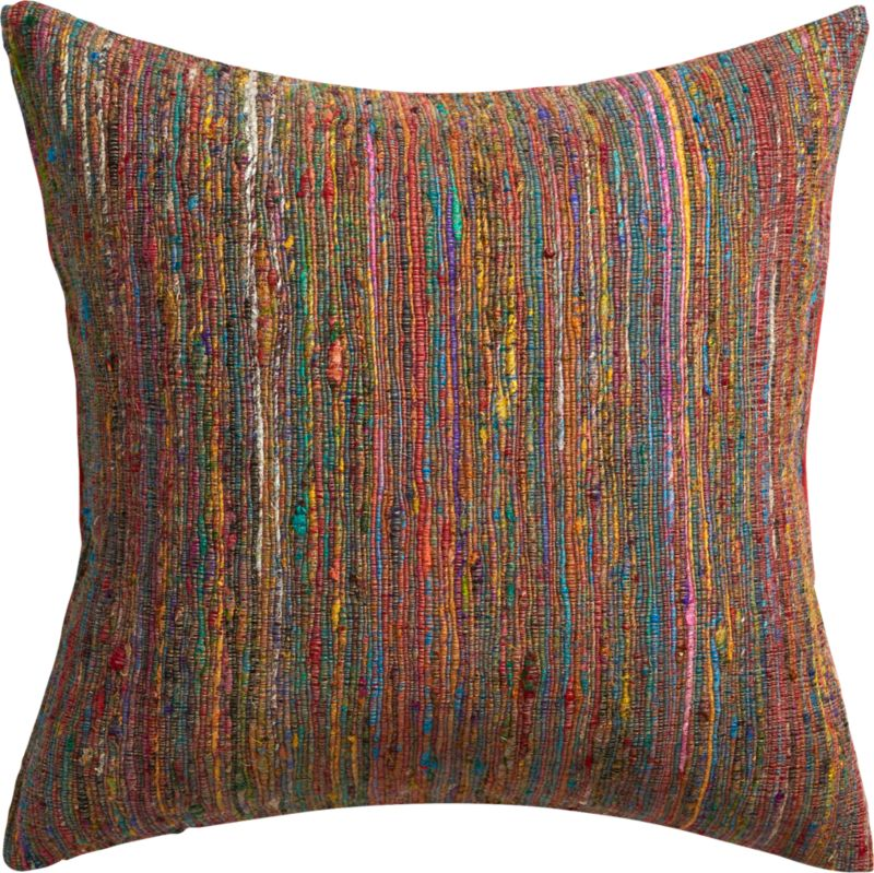 "sari 20"" pillow with feather insert"
