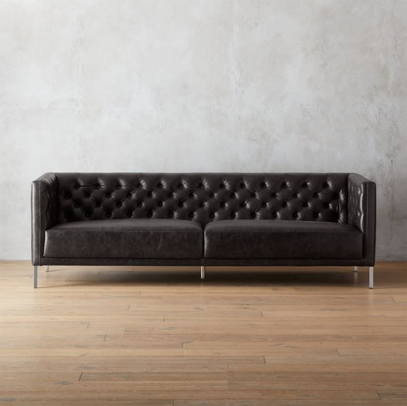 Savile Leather Sofa Cb2