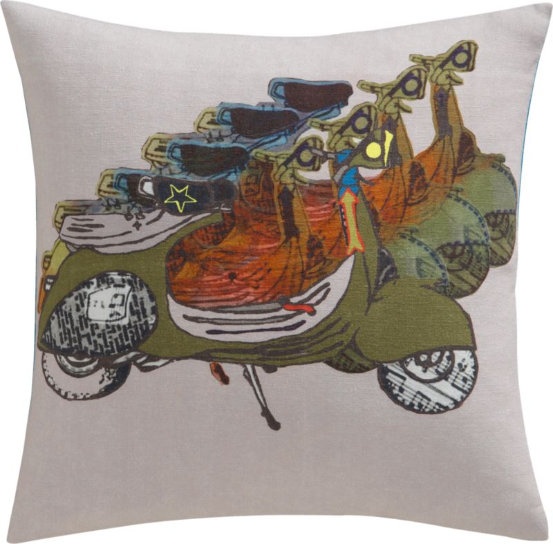 "scooter patrol 16"" pillow"