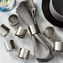 scott silver napkin rings set of eight