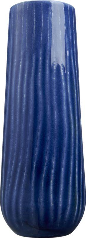 scratch blue vase