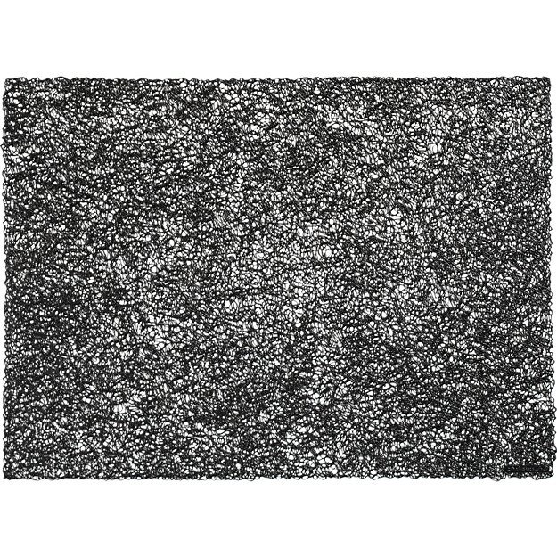 Chilewich ® scribble black placemat
