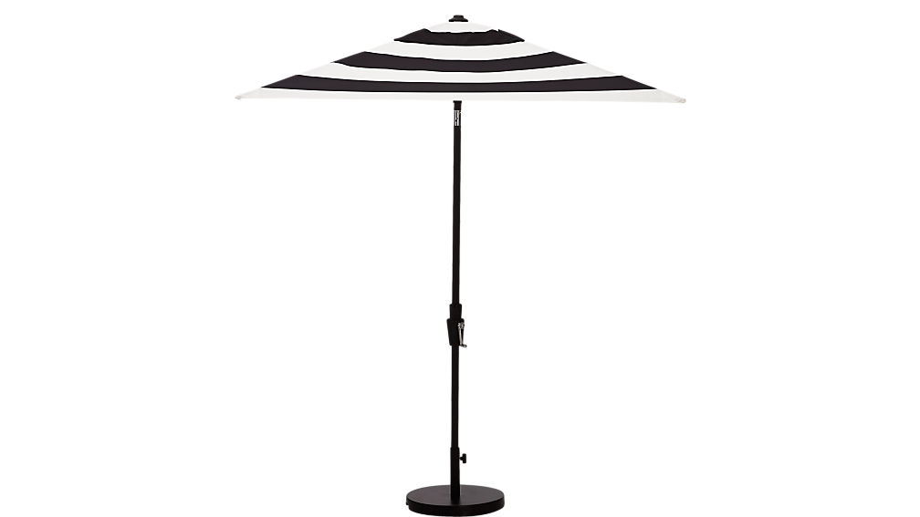 shadow black and white stripe umbrella shade