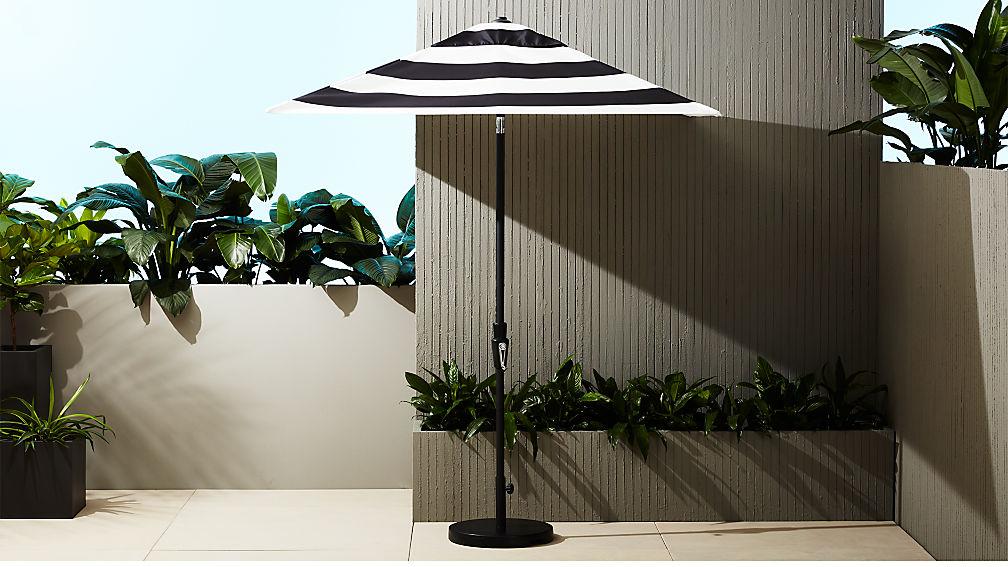 shadow black and white stripe umbrella