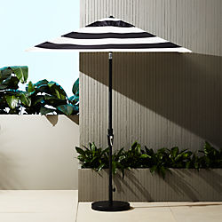shadow black and white stripe umbrella