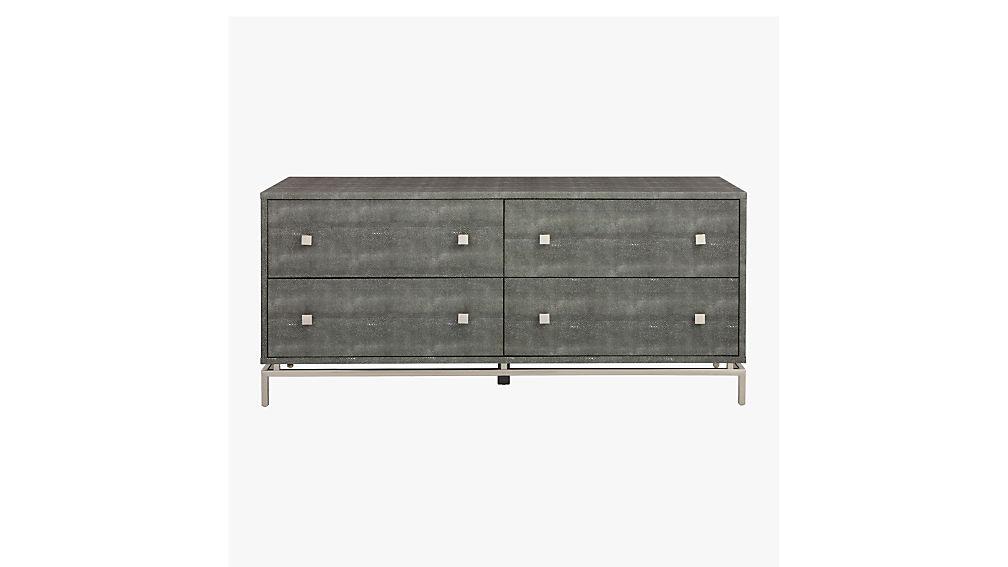 Shagreen Embossed Low Dresser Cb2