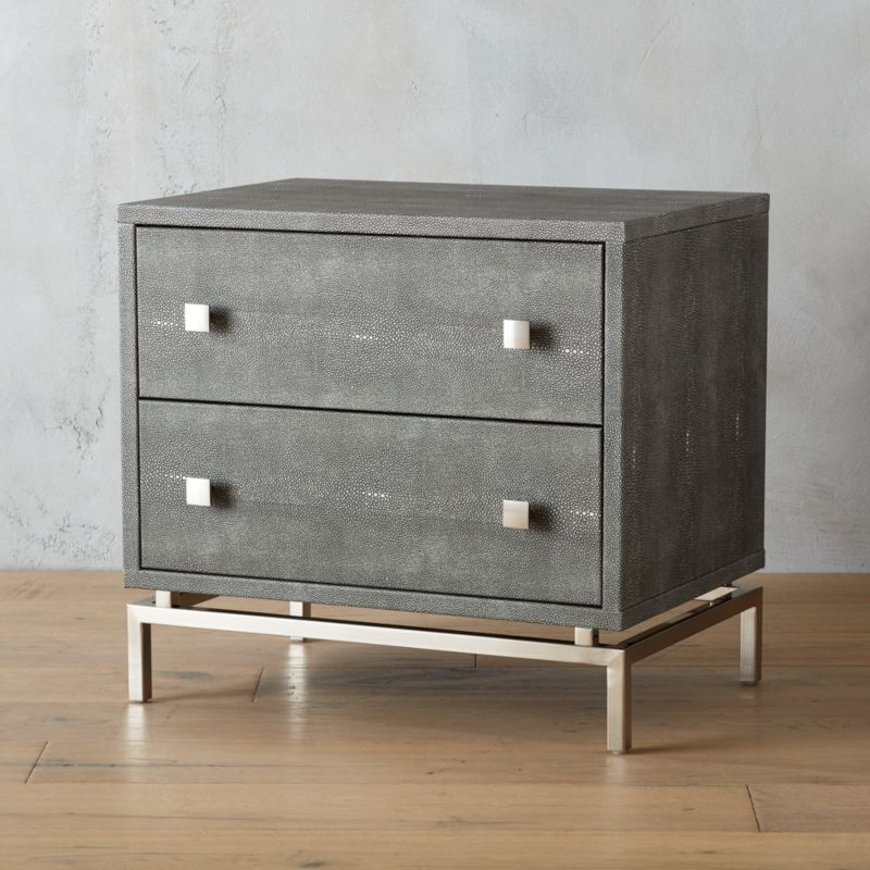 shagreen embossed nightstand | CB2