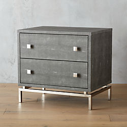 shagreen embossed nightstand