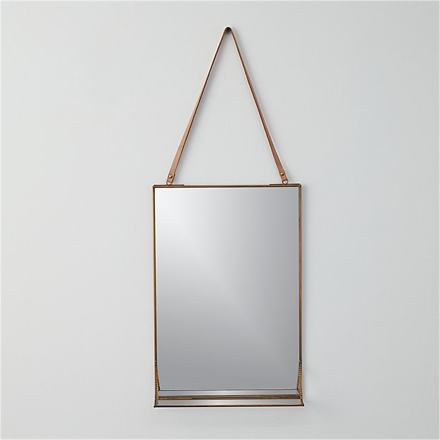 "shelf 11""x28"" wall mirror"