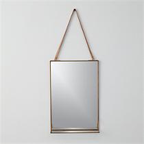 "shelf 11""x28"" wall mirror"