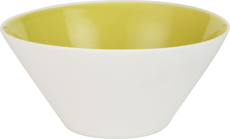 chartreuse shell bowl