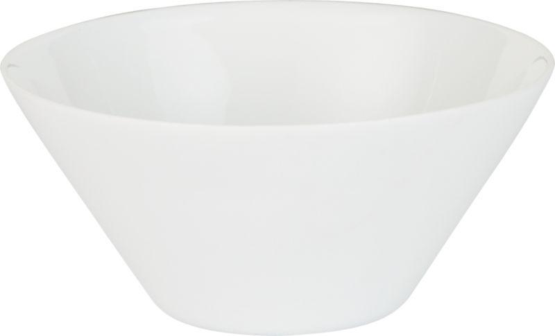 white shell bowl