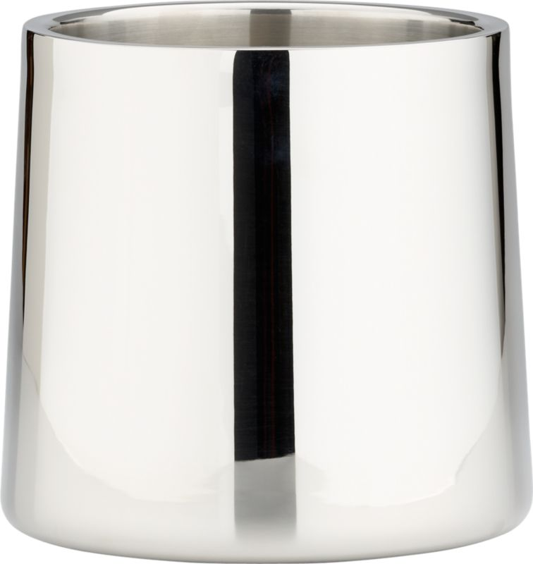 stainless steel shiny champagne-wine bucket