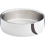 stainless steel shiny double wall serving bowl