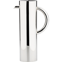 stainless steel shiny water pitcher