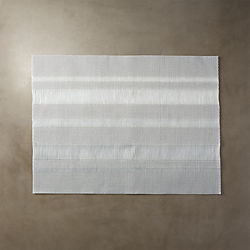 shred silver placemat