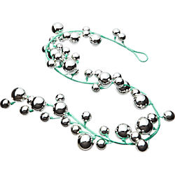 silver ball garland with mint