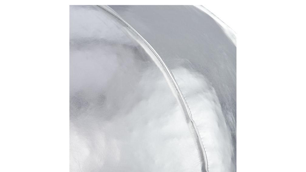 silver metallic pouf