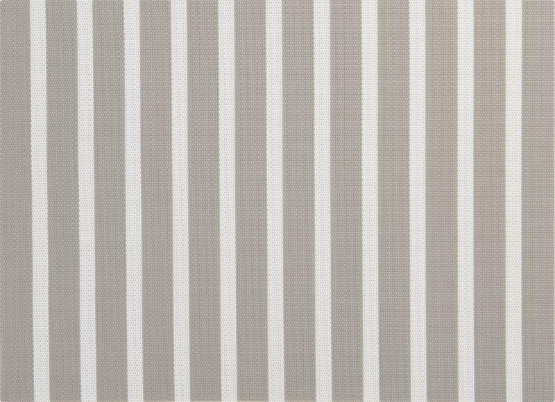 silver stripes placemat