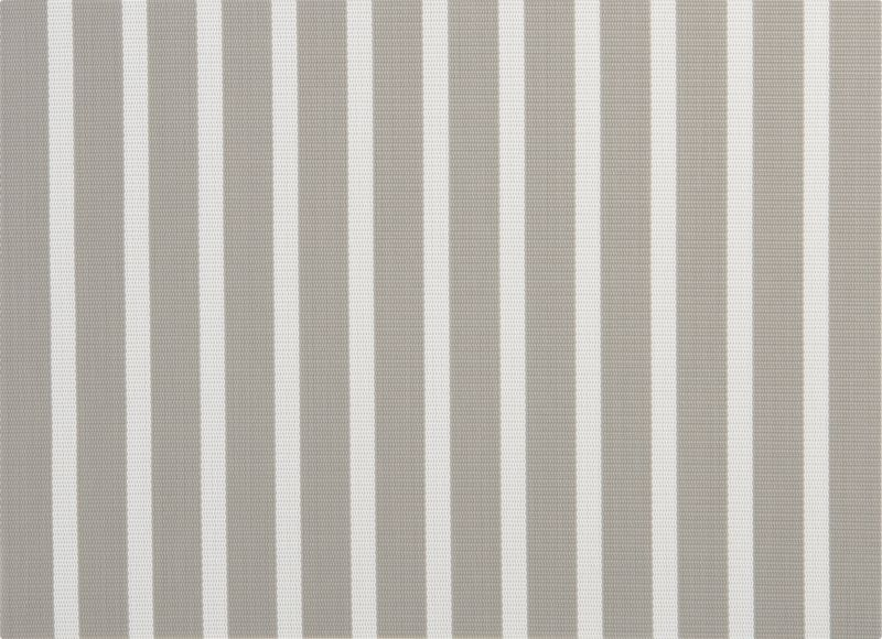 silver stripes placemat