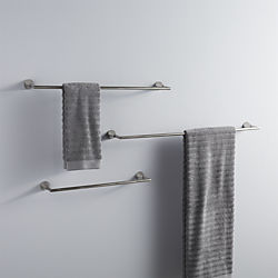 silver towel bars
