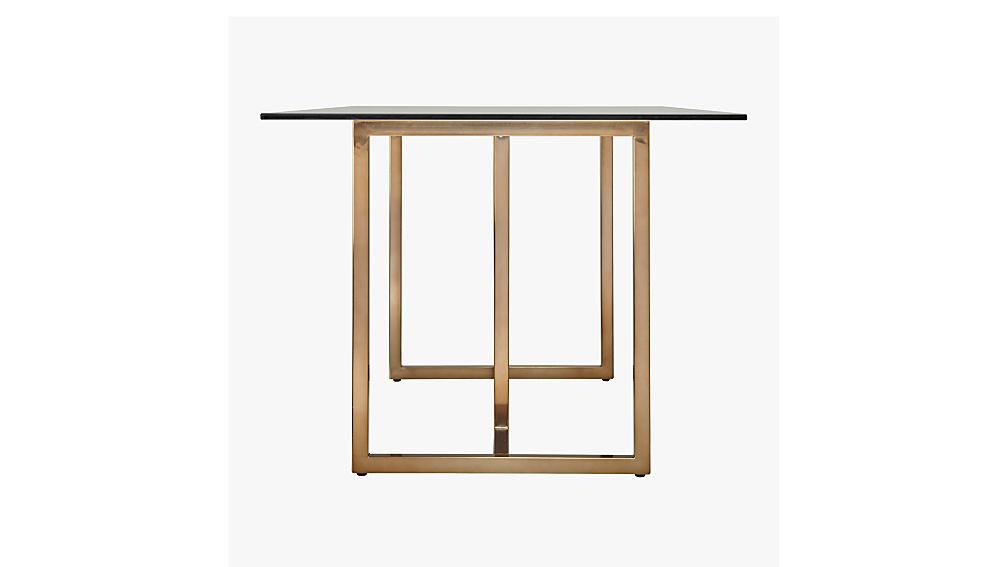 "silverado brass 80"" rectangular dining table"