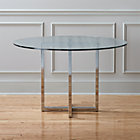 "silverado chrome 47"" round dining table."