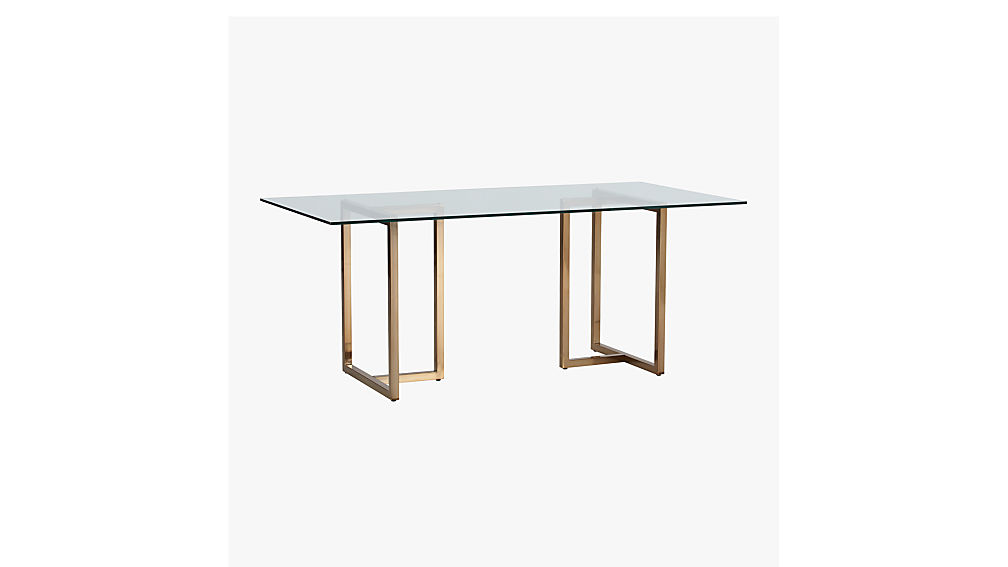 Silverado Brass 72 Rectangular Dining Table CB2
