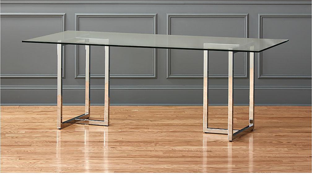 "silverado chrome 80"" rectangular dining table"