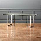 "silverado chrome 80"" rectangular dining table."