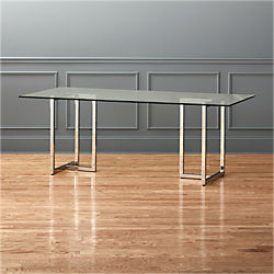 "silverado chrome 80"" rectangular dining table"