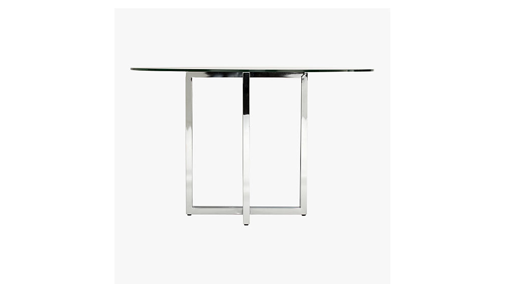 "silverado chrome 47"" round dining table"