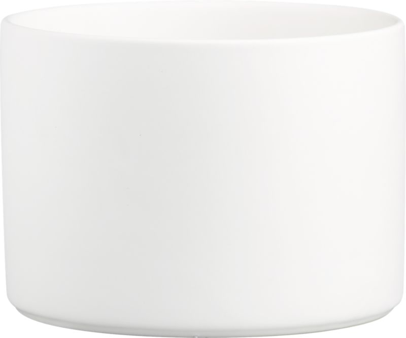 "<span class=""copyHeader"">deep impact.</span> Simplicity and utility dig deep in matte white stoneware. Rising high on the sides, bowl dishes up salad, pasta and chips for a crowd with straight-up minimalism.<br /><br /><NEWTAG/><ul><li>Stoneware</li><li>Matte white interior and exterior</li><li>Dishwasher-, microwave- and oven-safe (up to 350-degrees)</li></ul>"
