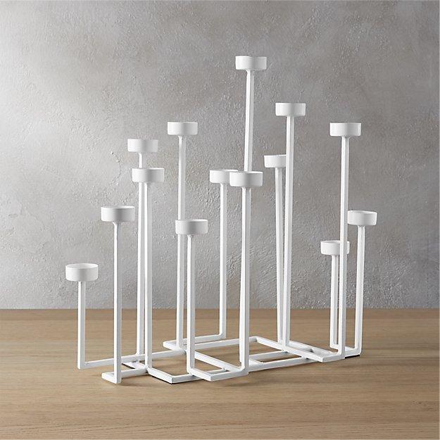 skyline tea light candle holder
