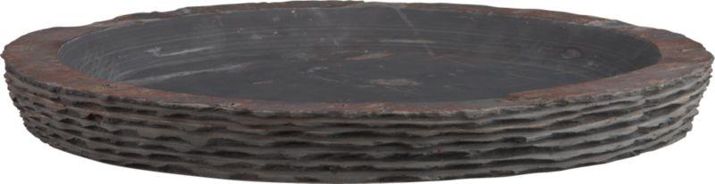 layered slate bowl