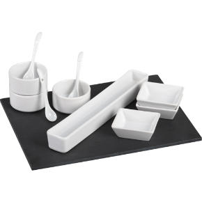 11-piece slate serving set
