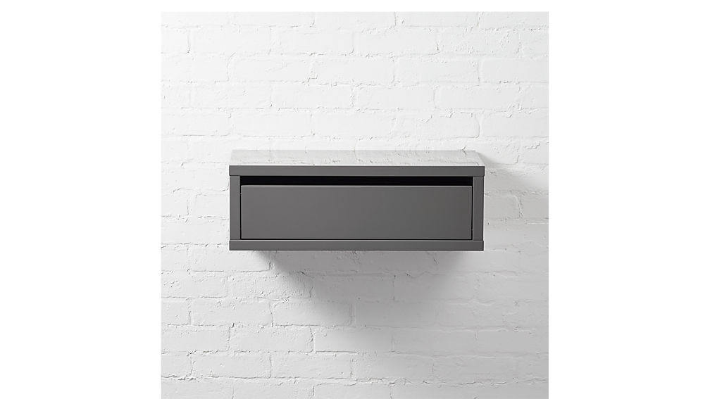slice grey wall mounted storage shelf