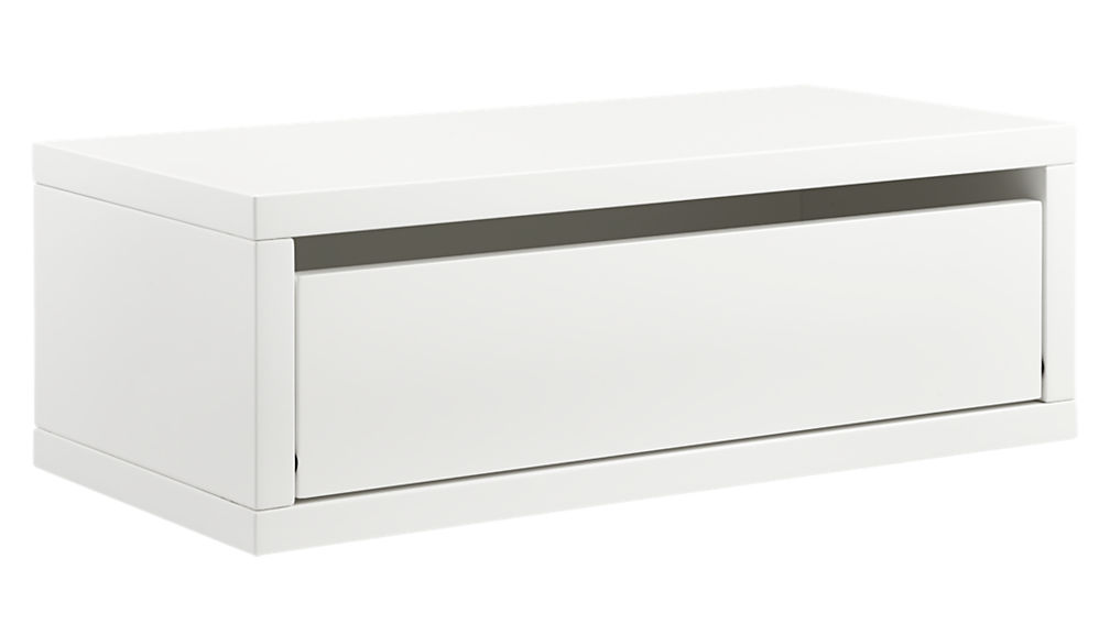 slice white wall mounted storage shelf