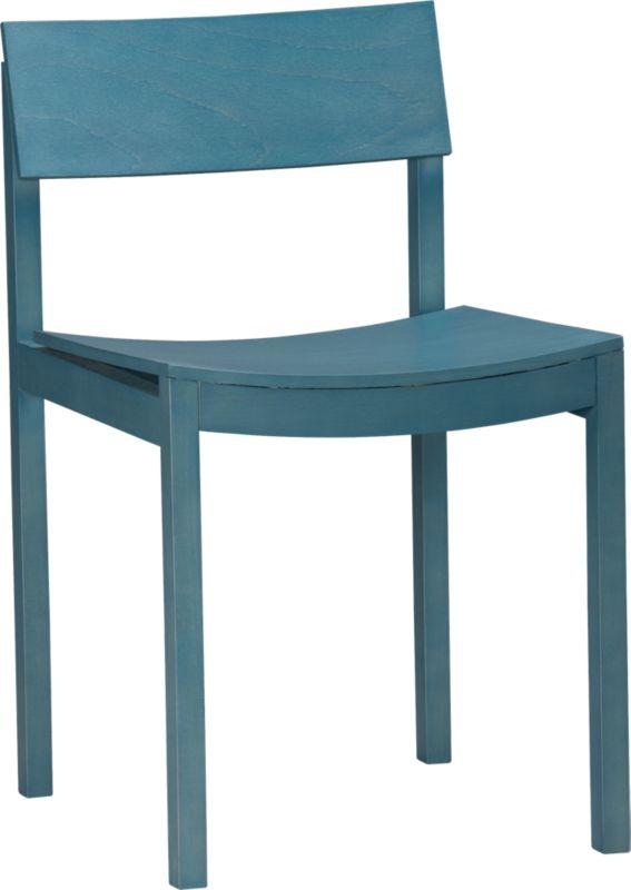 slide aqua wood chair