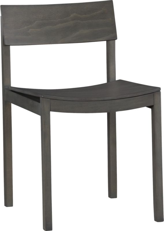 slide grey wood chair