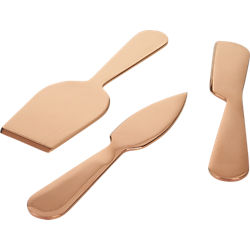 3-piece slim cheese knife set