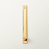slim gold tea light wall sconce