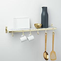 marble utility shelf